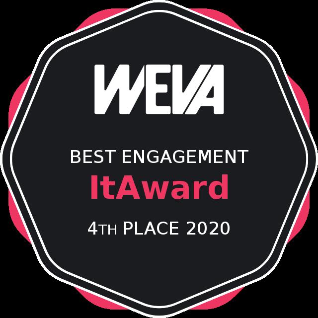 Weva Awards 2020 - Best engagement